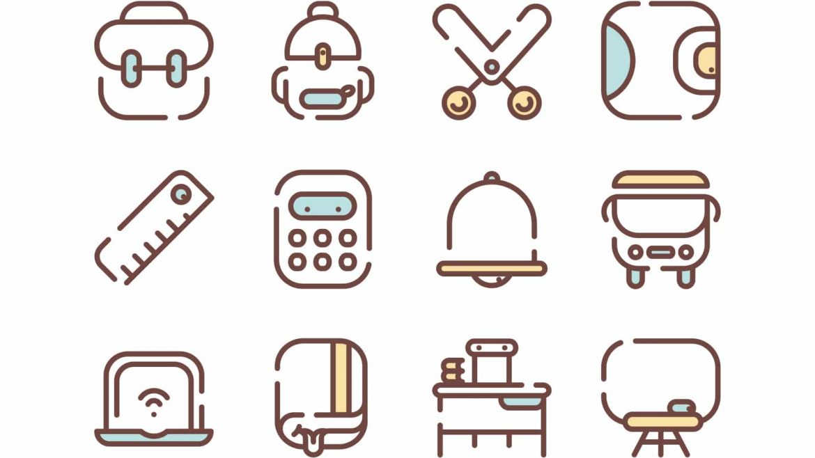back-to-school-2colors-icons