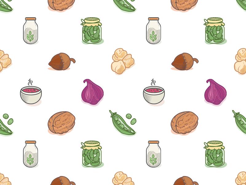 veggie-food-icons-pattern