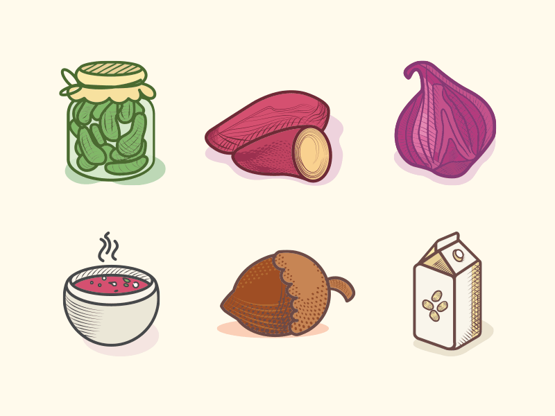 veggie-food-icons-color